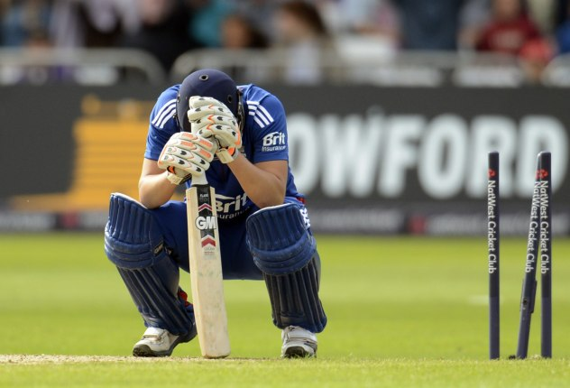Alex Hales was fairly disappointed, to say the least, when he was bowled for 99 against the West Indies (PC: Yahoo)