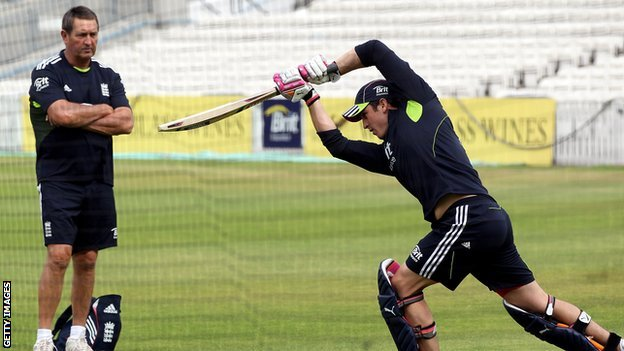 Graham Gooch watches over another man axed from the one-day setup, Craig Kieswetter