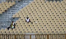 Empty West Indian stand, The Gaurdian
